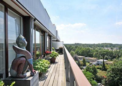 Serviceflat Houdringe balkon 2